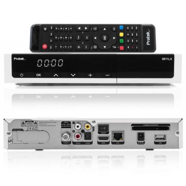 Protek 9911 LX HD HEVC265 E2 Linux HDTV 1x Sat Receiver - weiss