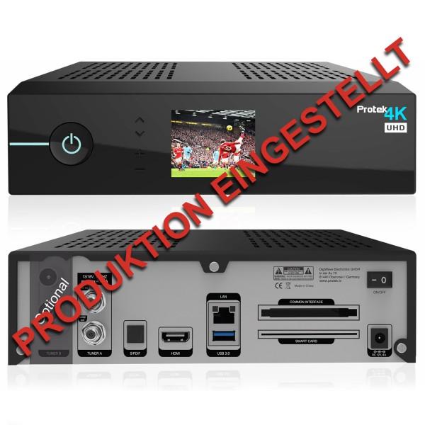 Protek 4K UHD Sat-Receiver mit 2160p E2 Linux HDTV